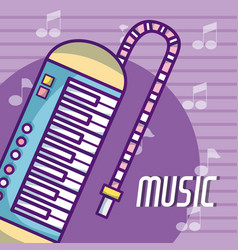 Melodica music instrument vector