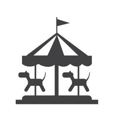 merry go round icon vector image