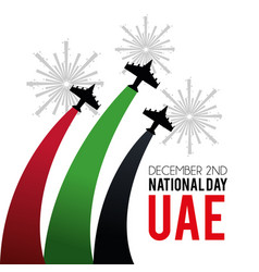 Military airplanes with firewords to national day vector