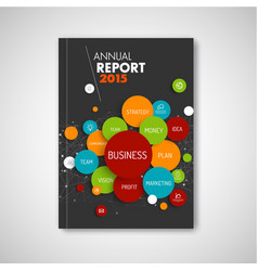 modern abstract brochure report business template vector image vector image