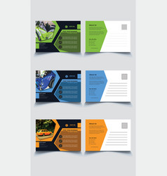 modern corporate post card template vector image