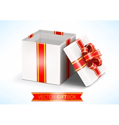 opened white gift box vector image
