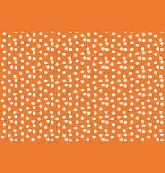 orange background scattered dots polka seamless vector image