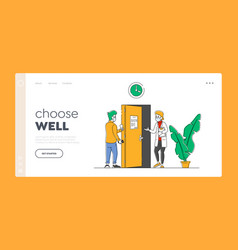 Patient visiting hospital for doctor appointment vector