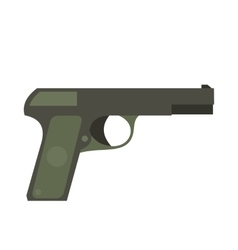 Pistol flat icon vector