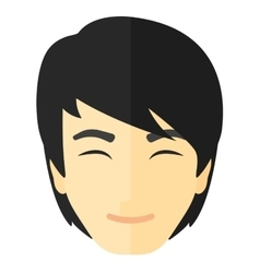 Pleased man with his eyes closed vector image