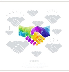 polygon-handshake- vector image