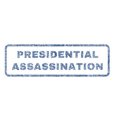 presidential assassination textile stamp vector image