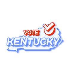 presidential vote in kentucky usa 2020 state map vector image