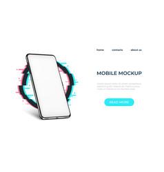 realistic smartphone mockup smartphone frame vector image