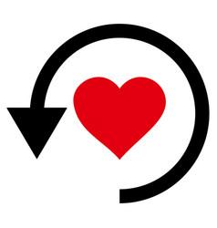 refresh love icon vector image vector image