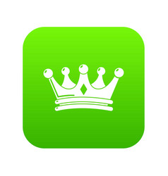 Regal crown icon green vector