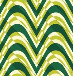 Retro 3D bulging light green waves diagonally cut vector