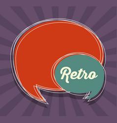 Retro speech bubble icon vector