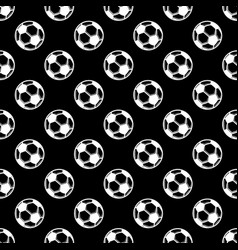 seamless black football background vector image