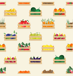 seamless pattern with natural organic fruits and vector image