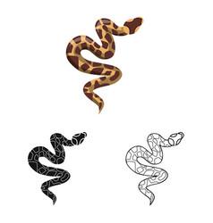 Serpent and venomous logo vector