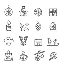 Set of black and white icons vector