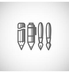 Set of drawing and writing tools vector