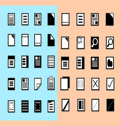 set of paper and file document vector image