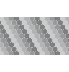 Silver hexagonal geometric background vector image