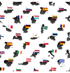 Simple color flags all european union countries on vector