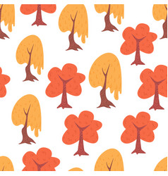 simple seamless tree pattern vector image