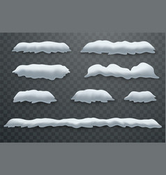 snow hills snowdrifts realistic snow masses vector image