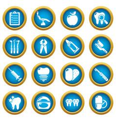 Stomatology dental icons set simple style vector