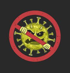 Stop coronavirus symbol sign healthcare warning vector