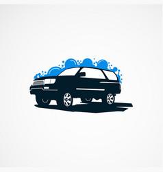 Suv car wash logo designs concept for company vector