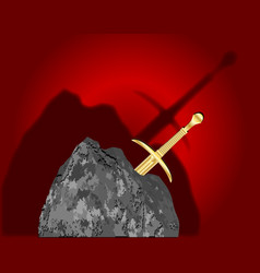 Sword in the stone vector