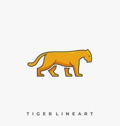 tiger walking template vector image