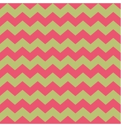 Tile pattern with pink zig zag on green background vector