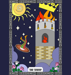 tower card vector image
