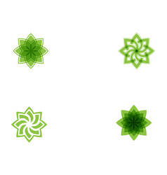 tree leaf green icon design template vector image