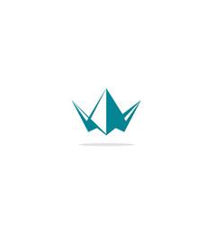 Triangle crown logo vector
