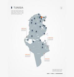 Tunisia infographic map vector