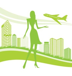 Urban and airport background vector