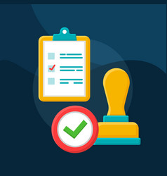 Validation verification flat concept icon vector