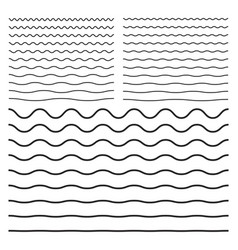 Wavy zigzag curved lines vector