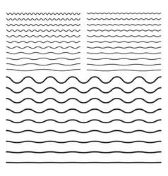 wavy zigzag curved lines vector image