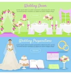 Wedding Decor and Preparations Web Banner vector image