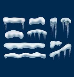 winter snow cap rodecoration frozen shapes vector image