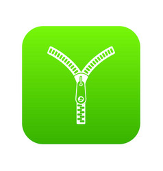zipper with lock icon digital green vector image