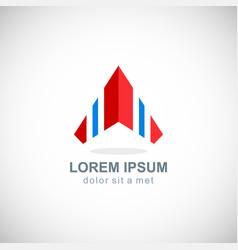 arrow up rocket rising logo vector image