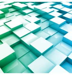 Blue brick wall with random height bricks vector image