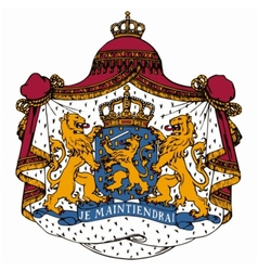 coat of arms of Netherlands vector image vector image