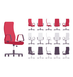 executive office chair furniture set vector image