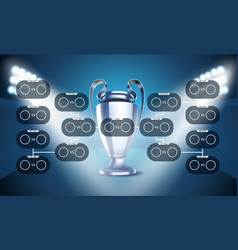 football tournament scheme football infographic vector image vector image